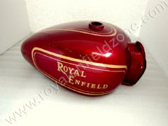 FUEL TANK 25 LITRES WITH GOLD HAND PAINT LINING