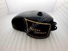 CAFE TANK IN BLACK PAINT WITH GOLD LINING